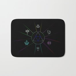 The Triforce Of Symbol Bath Mat