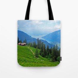 Above Interlaken Tote Bag