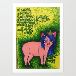Cabbages & Kings Art Print