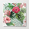 Tropical- Hibiscus and fern by nehabalthazar