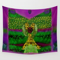 bambi Wall Tapestries featuring Lady Panda As Bambi by Pepita Selles