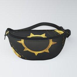 Solar Eclipse black Fanny Pack
