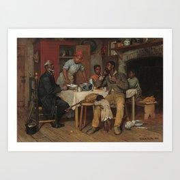 A Pastoral Visit Oil Painting by Richard Norris Brooke Art Print