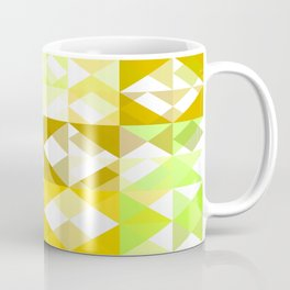 Pale Yellow Poinsettia 1 Abstract Triangles 1 Coffee Mug