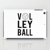 volleyball iPad Cases featuring Volleyball (black) by raineon
