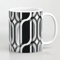 bauhaus Mugs featuring Bauhaus Type Black and White Art by Addbark