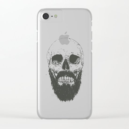 The beard is not dead Clear iPhone Case