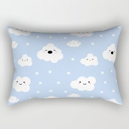 Blue Clouds Rectangular Pillow