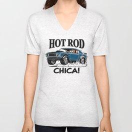 Hot Rod CHICA -1 Unisex V-Neck