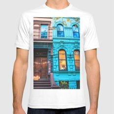 New York City Colors Mens Fitted Tee White MEDIUM