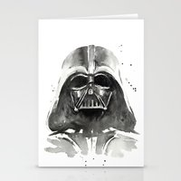 darth Stationery Cards featuring Darth Vader by Olechka