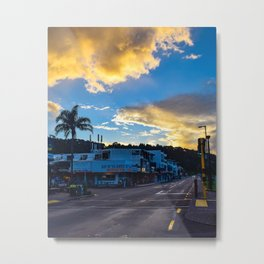 Paihia Sunset Streetscape Metal Print