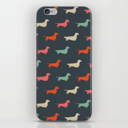 Dachshund Silhouettes | Colorful Patterned Wiener Dogs iPhone Skin