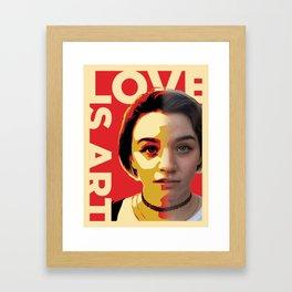Love is Art Framed Art Print