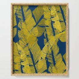 Carved Yellow&Blue Jungle #society6 #decor #buyart Serving Tray