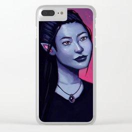 Portrit of Amara Clear iPhone Case