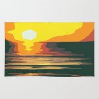 sunrise Area & Throw Rugs featuring Sunrise by Nuam