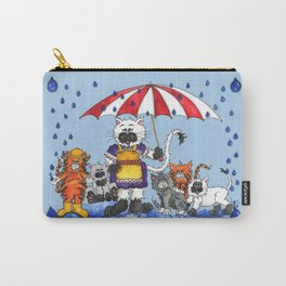 Cats in Rainy Weather Carry-All Pouch