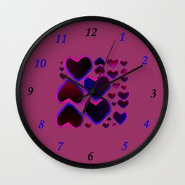 Purple Heart Wall Clock