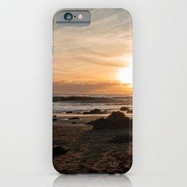 Rose Petal Heart in Sand at El Matador Beach, Malibu, Caliufornia iPhone Case