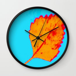 BE LIKE A LEAF #10 Wall Clock