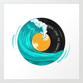 Photo Wave Art Print