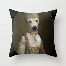 """Marie """"Chien""""toinette Throw Pillow"""