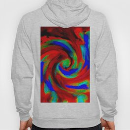 Red Blue Green Fireball Sky Explosion Hoody