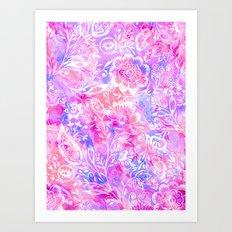Feminine Folk Floral Art Print