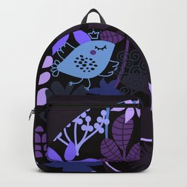 Afro Diva : Sophisticated Lady Purple Lavender Backpack