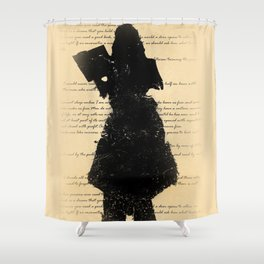 Reading Shadow Shower Curtain