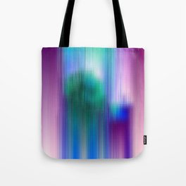 Glitchy Tiles - Abstract Pixel art Tote Bag