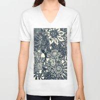 mermaid V-neck T-shirts featuring MERMAID by Monika Strigel