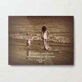 Seashore Memories Metal Print