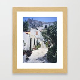 In the Shadow of the Acropolis. Framed Art Print