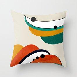 Mid Century Modern Space 73 Throw Pillow