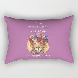Stardust Lion Rectangular Pillow