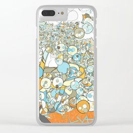 Nested Composition 3 Clear iPhone Case