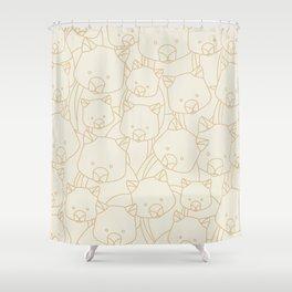 Minimalist Wombat Shower Curtain