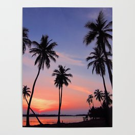 Tropical Purple Sunset Poster
