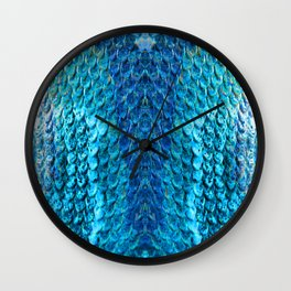 Snake Skin - Blue 3 Wall Clock