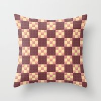 quilt Throw Pillows featuring Quilt by Lyle Hatch