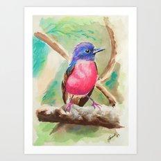 Little Birds 9/30 by Veron Ramsawak Art Print