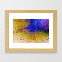 Ink Intrusion Framed Art Print
