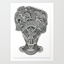 Self portrait with demons (0021)  Art Print
