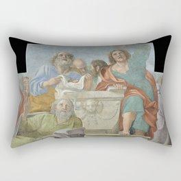 Annibale Carracci - Apostles around the Empty Sepulchre (1605) Rectangular Pillow