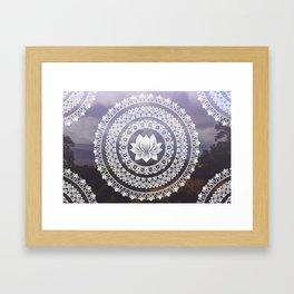 Lotus Mandala - Windermere Hills Landscape Framed Art Print