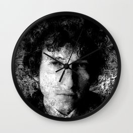 BOB DYLAN (BLACK & WHITE VERSION) Wall Clock