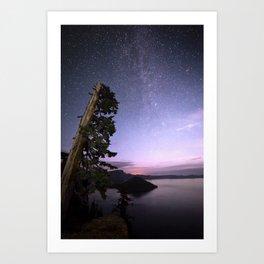 Crater Lake Glow Art Print