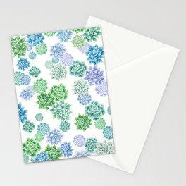 Floral succulent pattern Stationery Cards